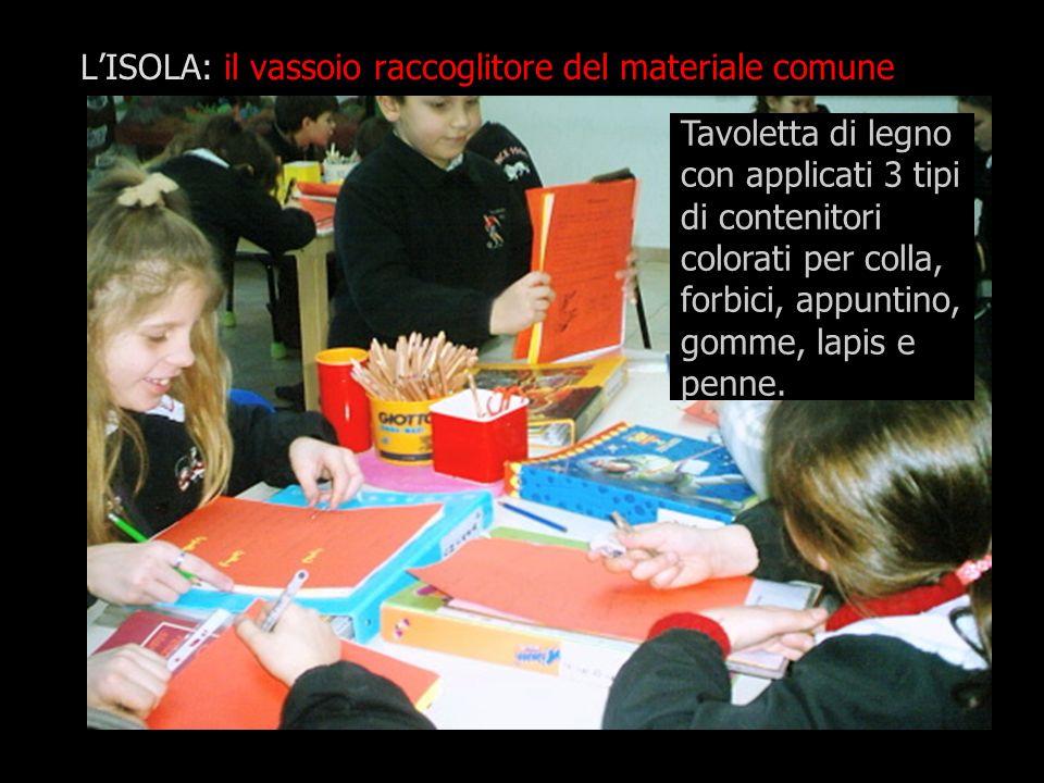 L'ISOLA: il vassoio raccoglitore del materiale comune