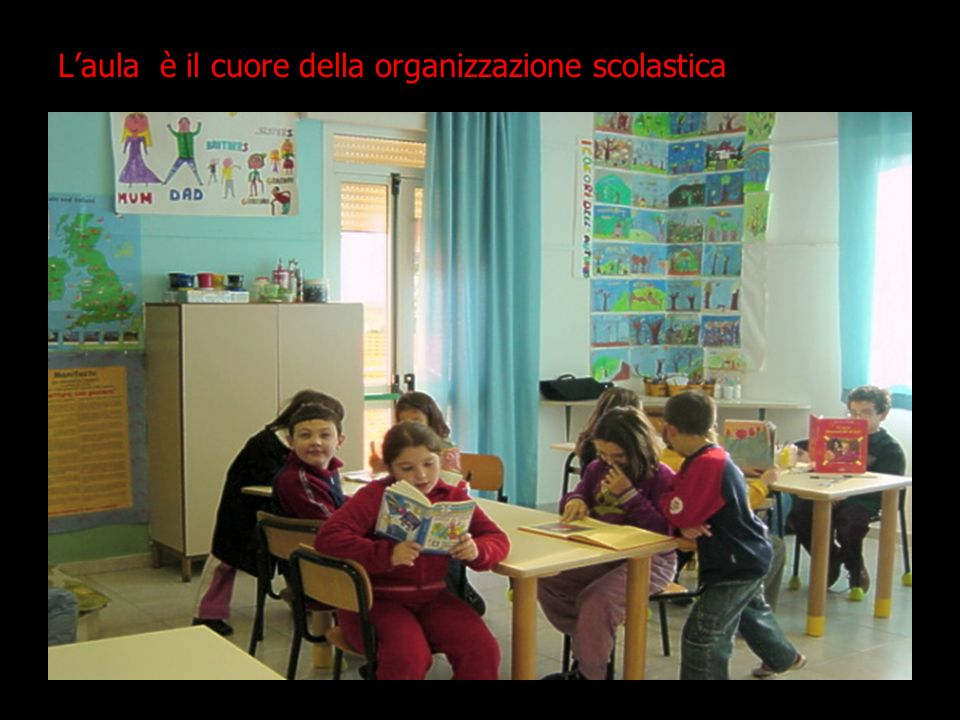 L'aula è il cuore della organizzazione scolastica