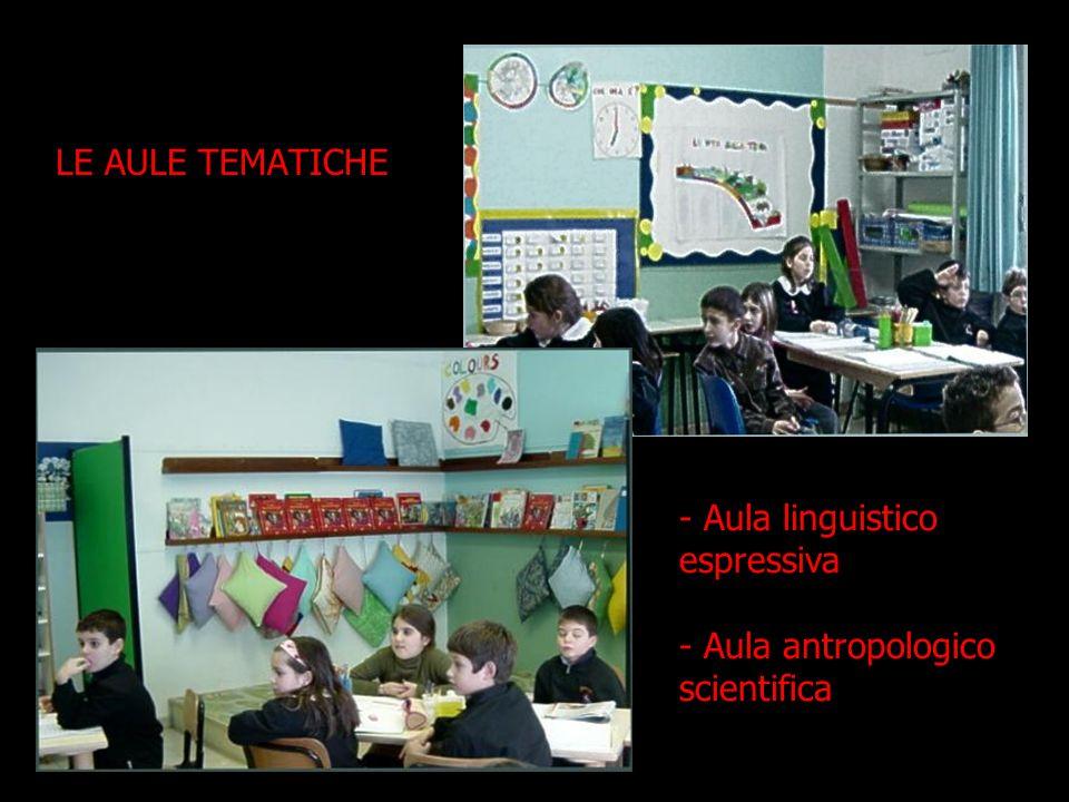LE AULE TEMATICHE - Aula linguistico espressiva - Aula antropologico scientifica