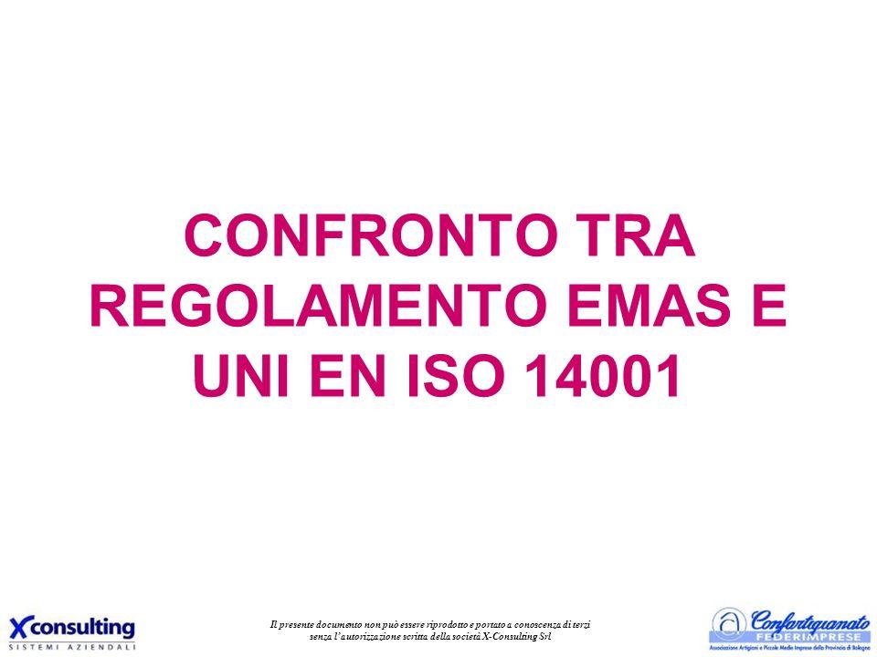 CONFRONTO TRA REGOLAMENTO EMAS E UNI EN ISO 14001