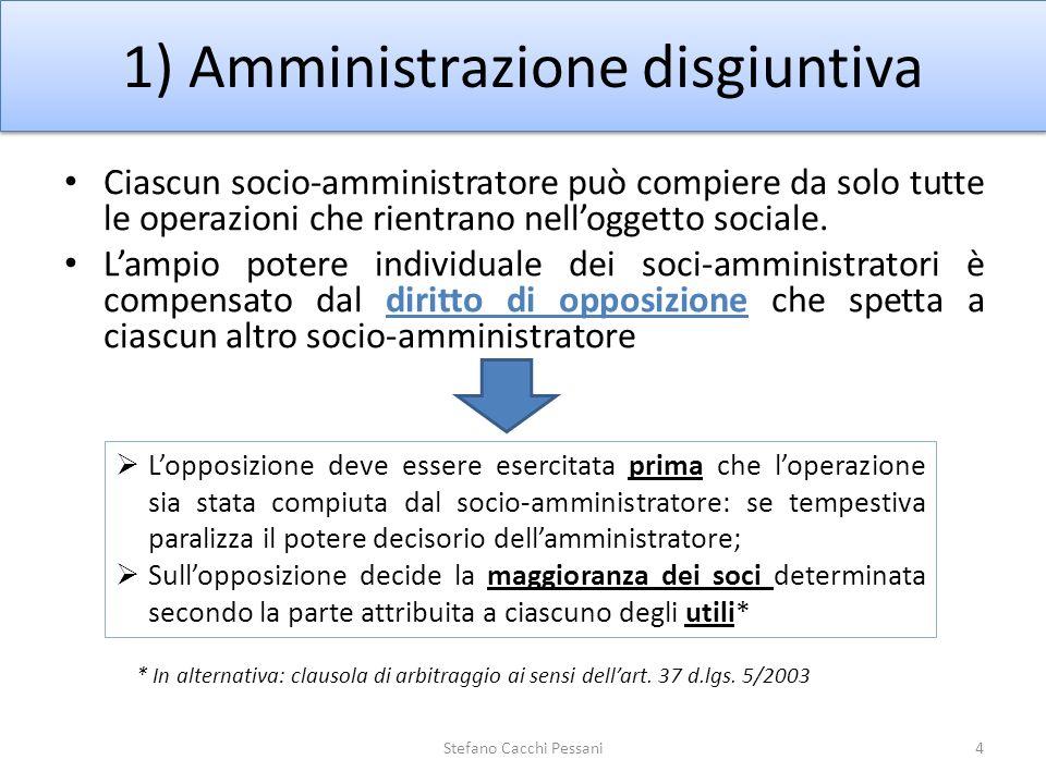 1) Amministrazione disgiuntiva