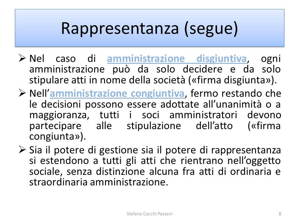 Rappresentanza (segue)