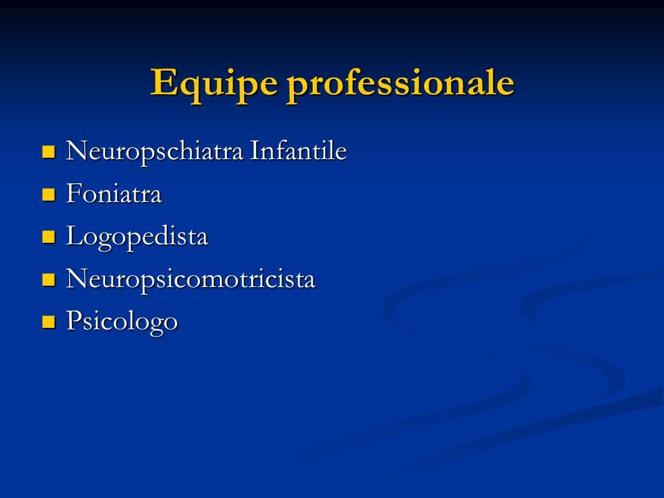 Equipe professionale Neuropschiatra Infantile Foniatra Logopedista
