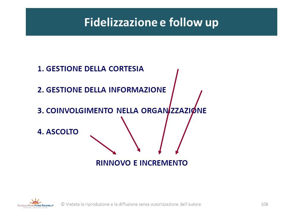 Fidelizzazione e follow up