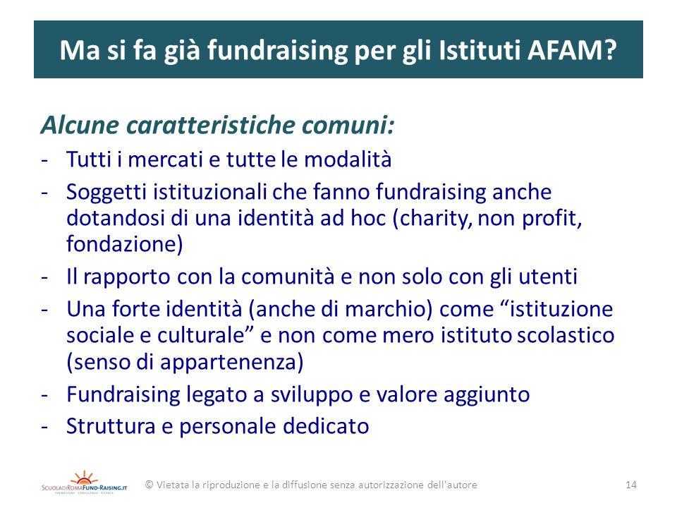 Ma si fa già fundraising per gli Istituti AFAM