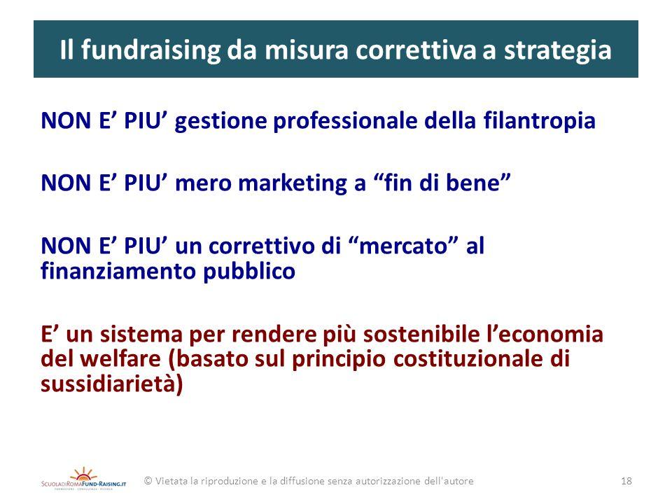 Il fundraising da misura correttiva a strategia