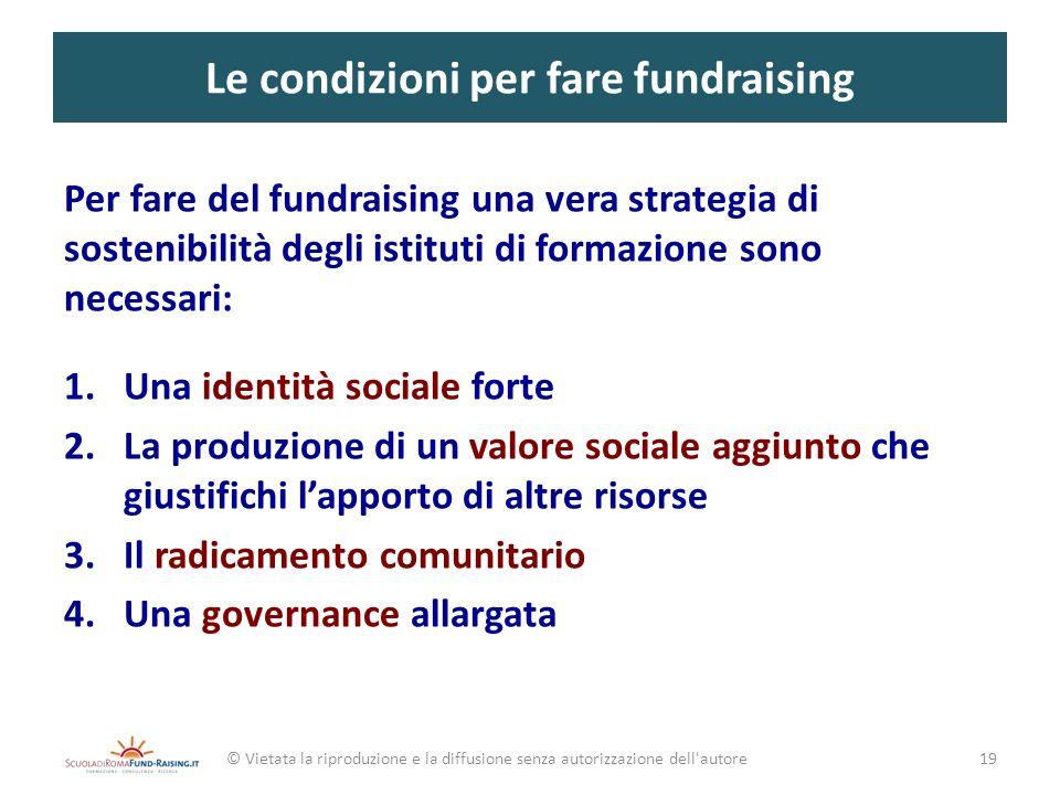 Le condizioni per fare fundraising