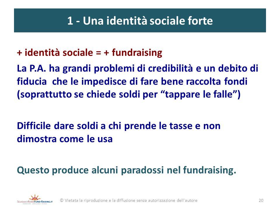 1 - Una identità sociale forte