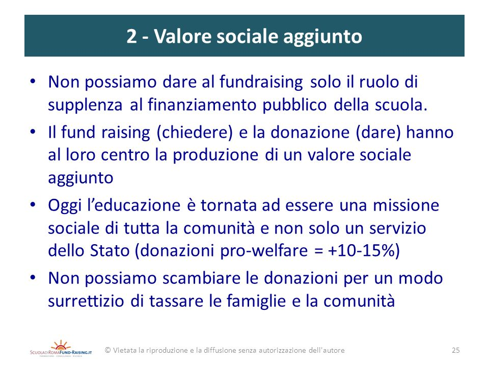 2 - Valore sociale aggiunto