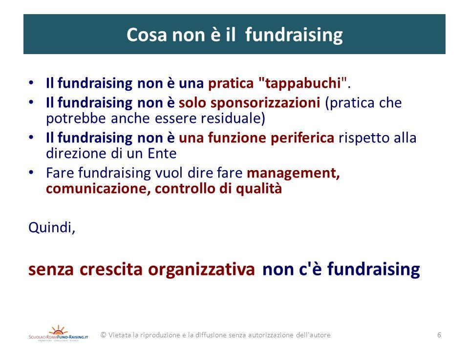 Cosa non è il fundraising