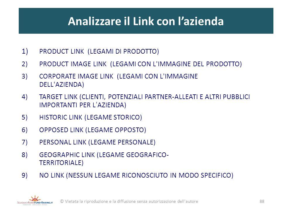Analizzare il Link con l'azienda
