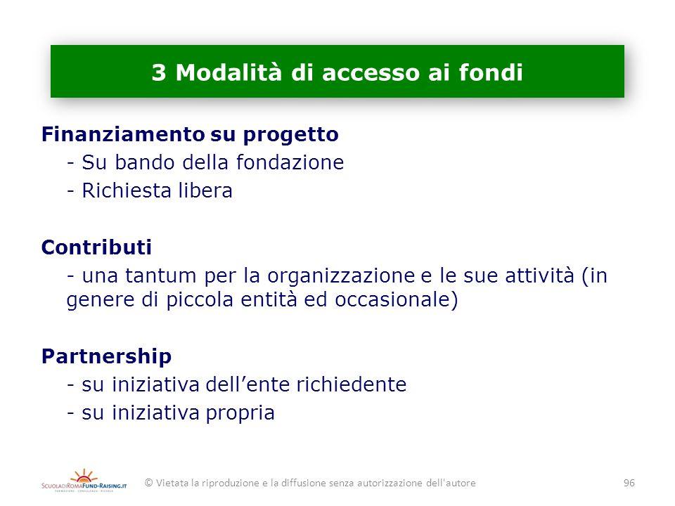 3 Modalità di accesso ai fondi
