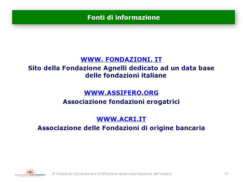 Associazione fondazioni erogatrici WWW.ACRI.IT