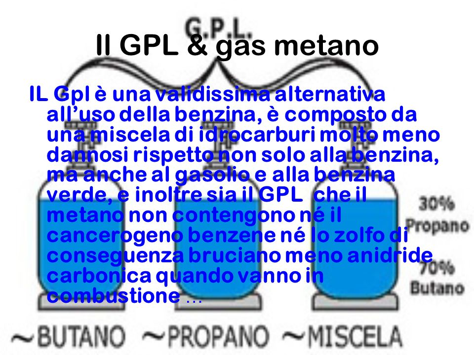 Il GPL & gas metano