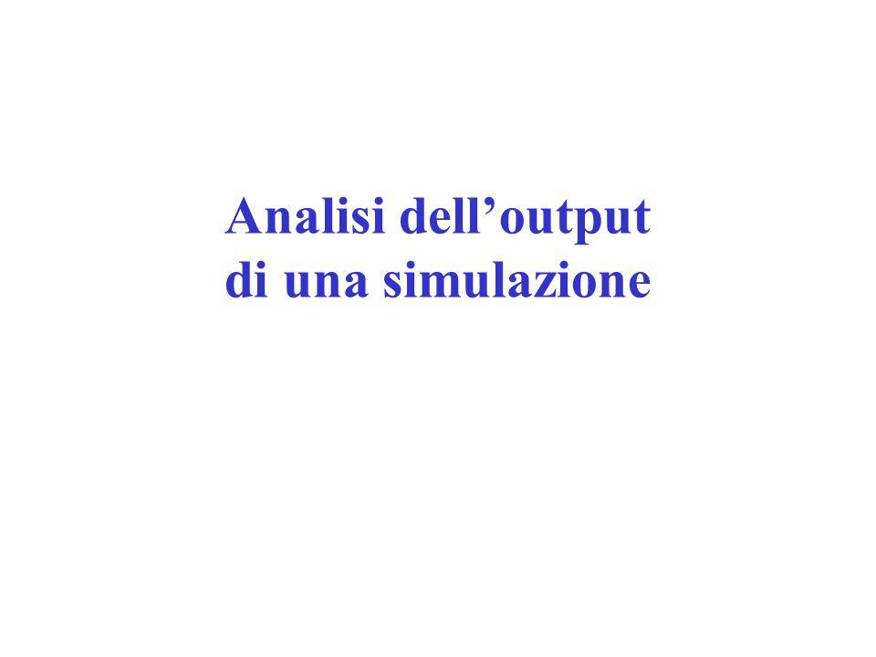 Analisi dell'output di una simulazione