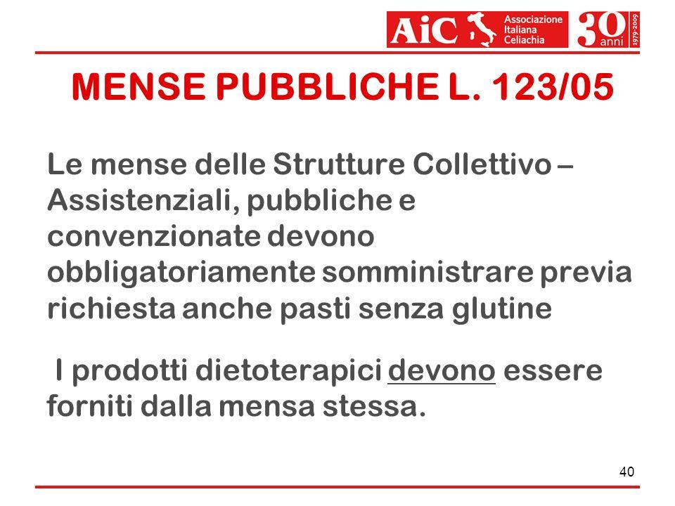 MENSE PUBBLICHE L. 123/05
