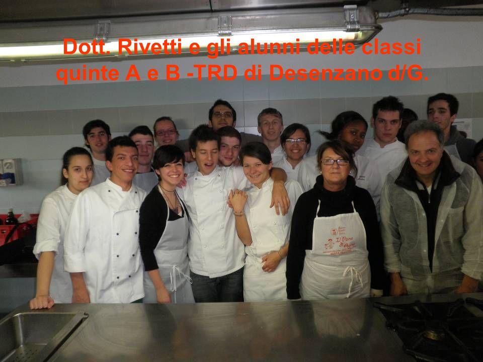 Dott. Rivetti e gli alunni delle classi quinte A e B -TRD di Desenzano d/G.