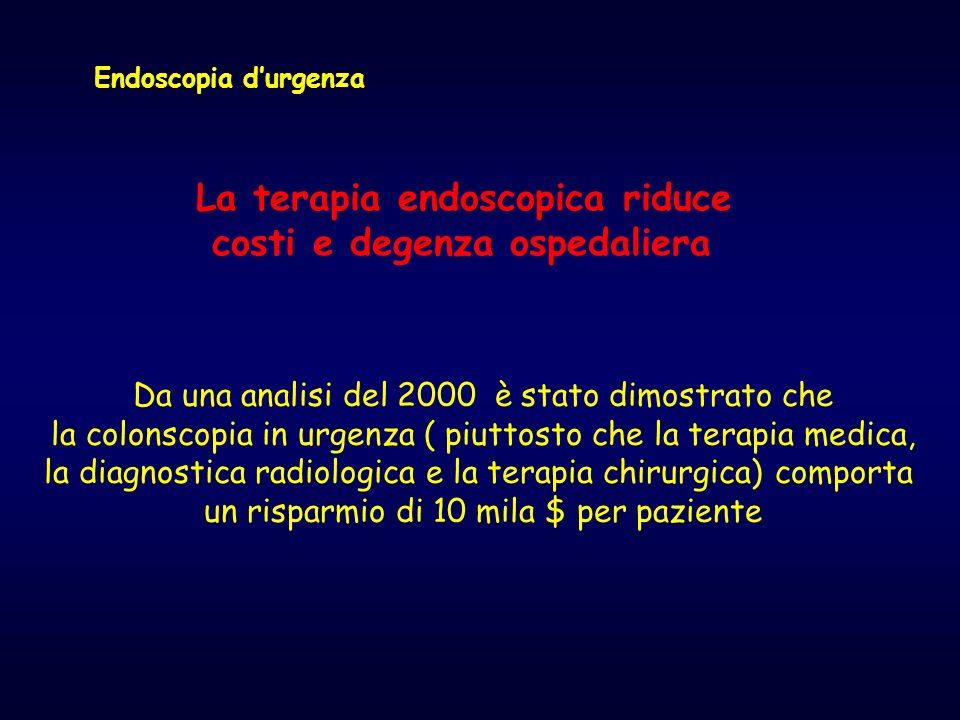 La terapia endoscopica riduce costi e degenza ospedaliera