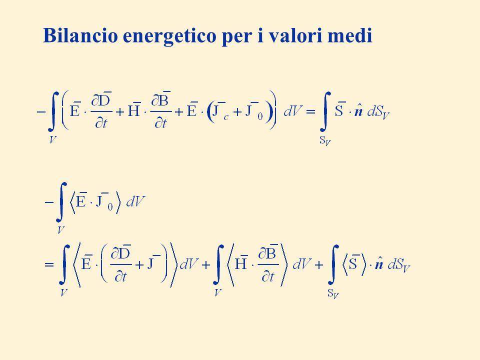 Bilancio energetico per i valori medi