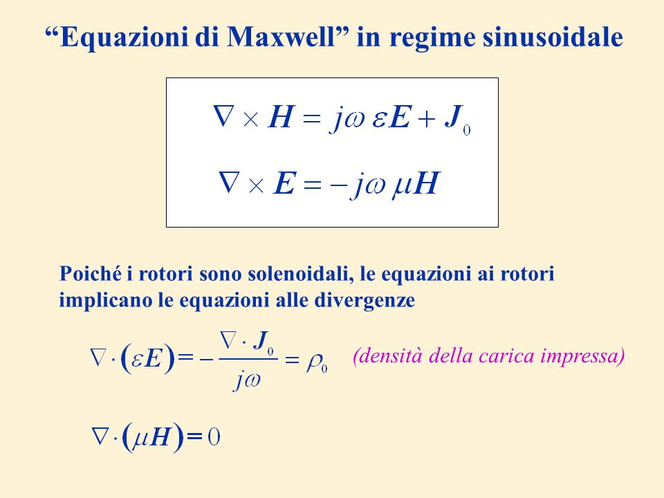 Equazioni di Maxwell in regime sinusoidale