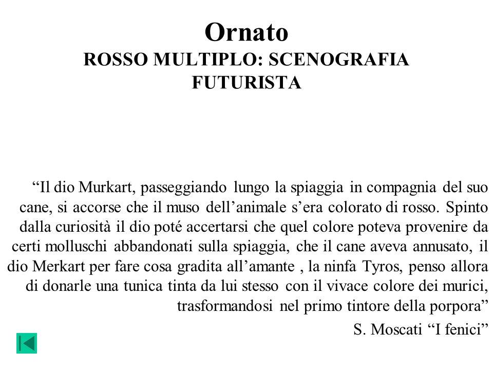 Ornato ROSSO MULTIPLO: SCENOGRAFIA FUTURISTA