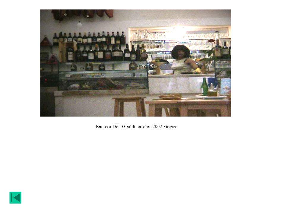 Enoteca De' Giraldi ottobre 2002 Firenze