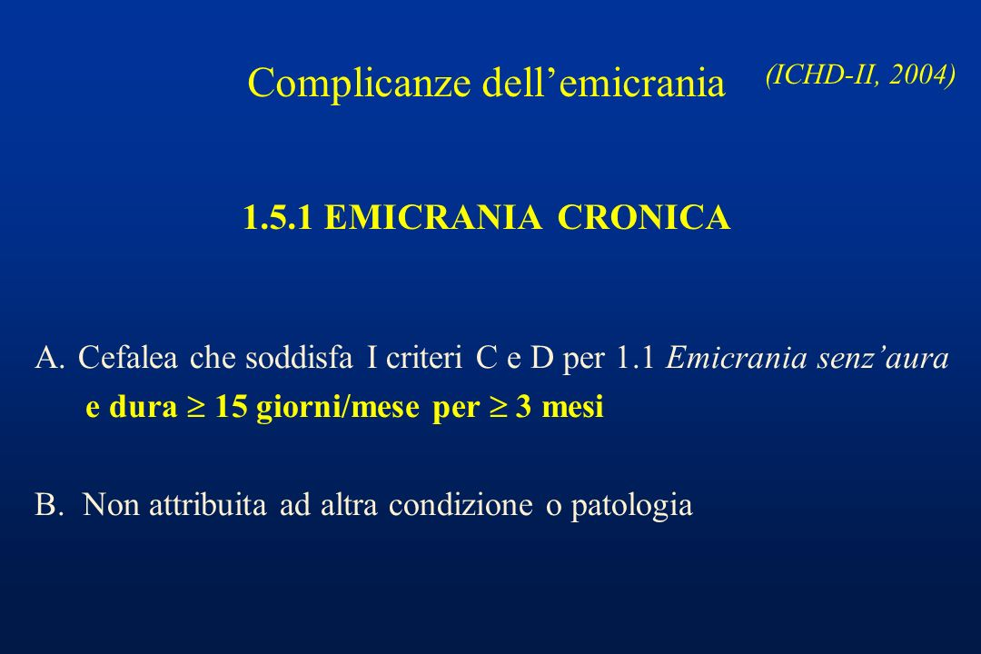 Complicanze dell'emicrania