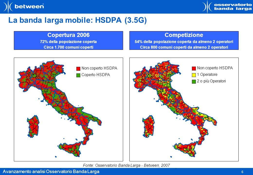 La banda larga mobile: HSDPA (3.5G)