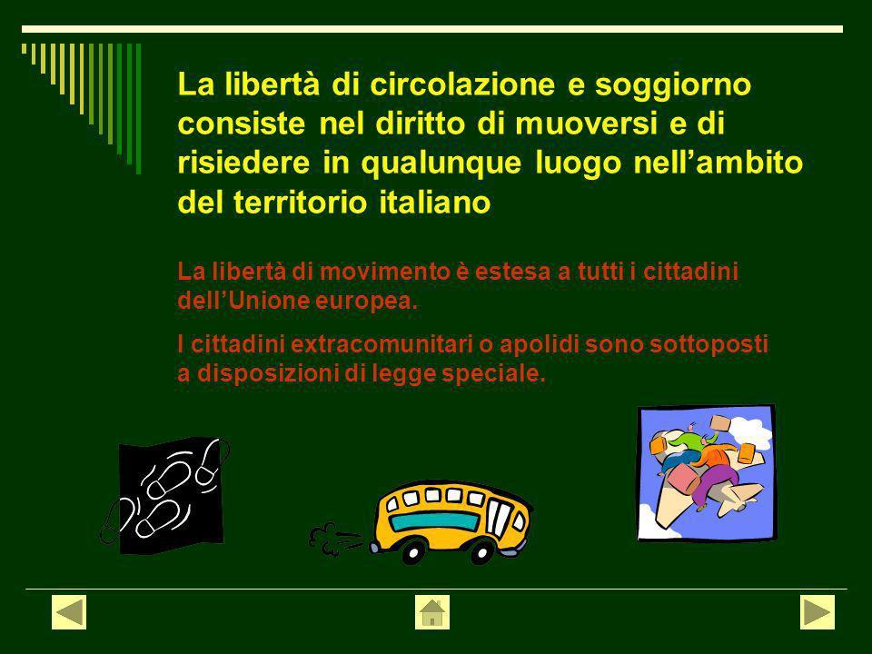 Best Libertà Di Circolazione E Soggiorno Gallery - Design Trends ...