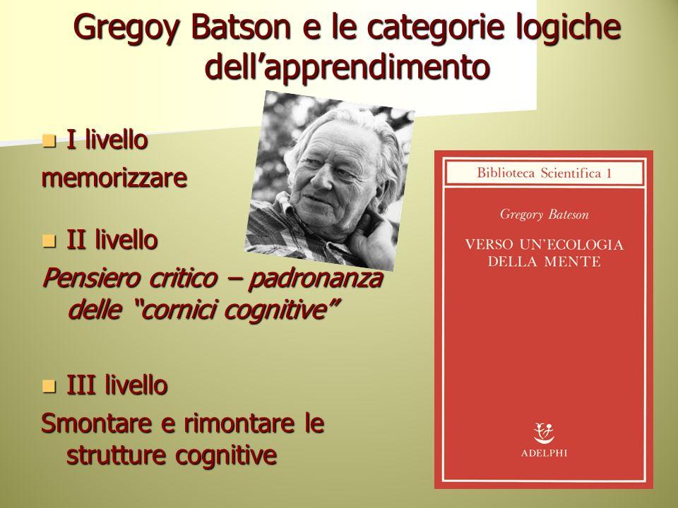 Gregoy Batson e le categorie logiche dell'apprendimento