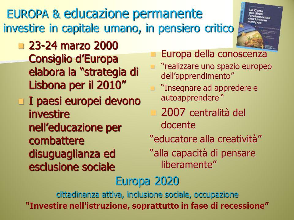 Investire nell istruzione, soprattutto in fase di recessione