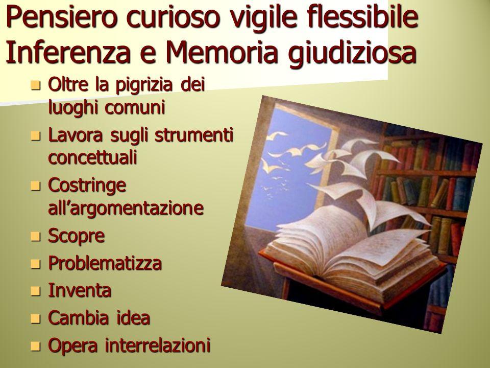 Pensiero curioso vigile flessibile Inferenza e Memoria giudiziosa