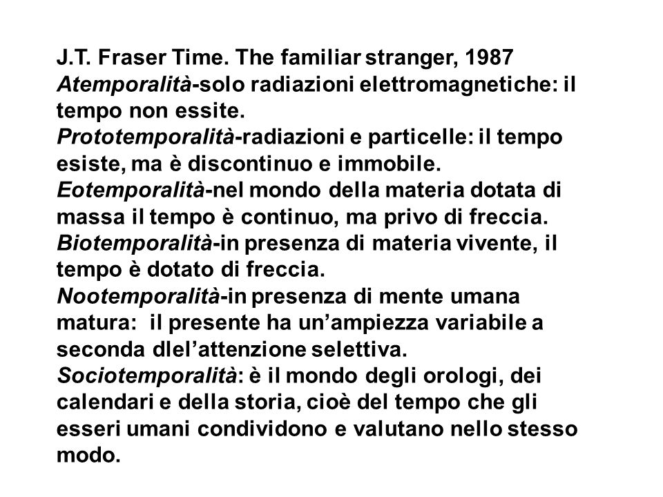 J.T. Fraser Time. The familiar stranger, 1987