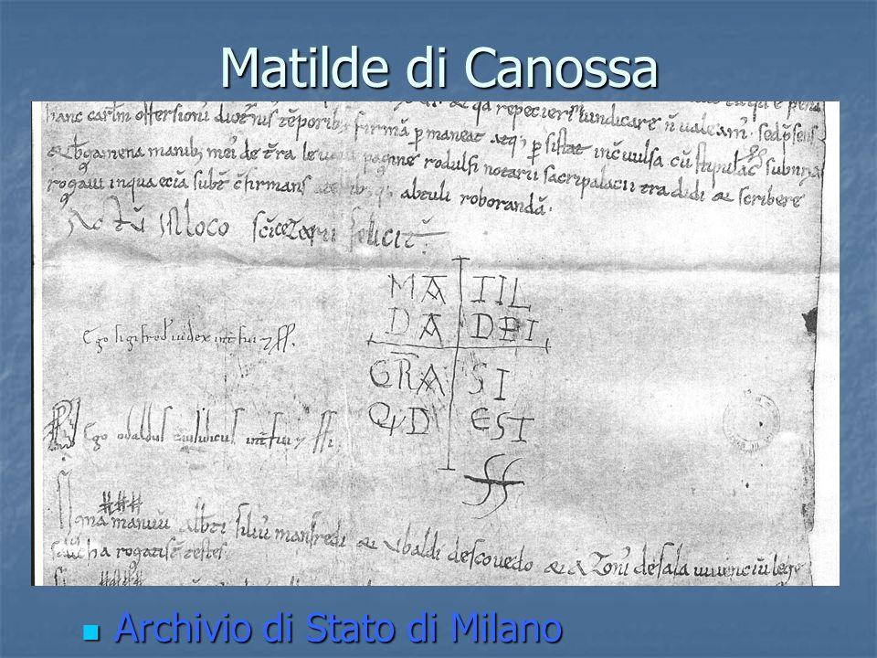 Matilde di Canossa Archivio di Stato di Milano