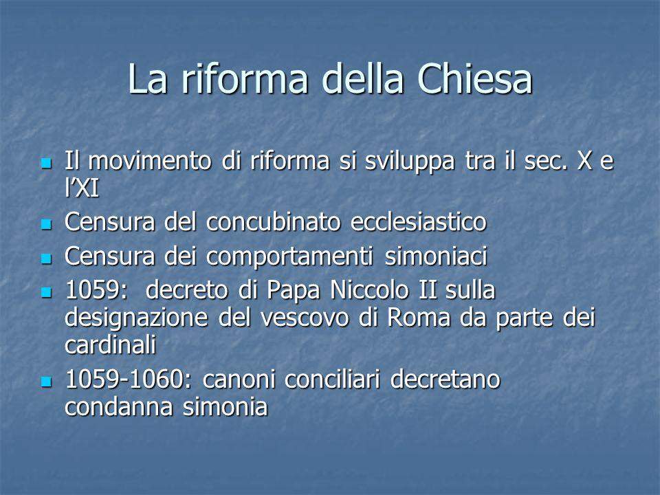 La riforma della Chiesa