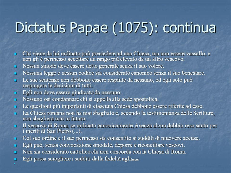 Dictatus Papae (1075): continua