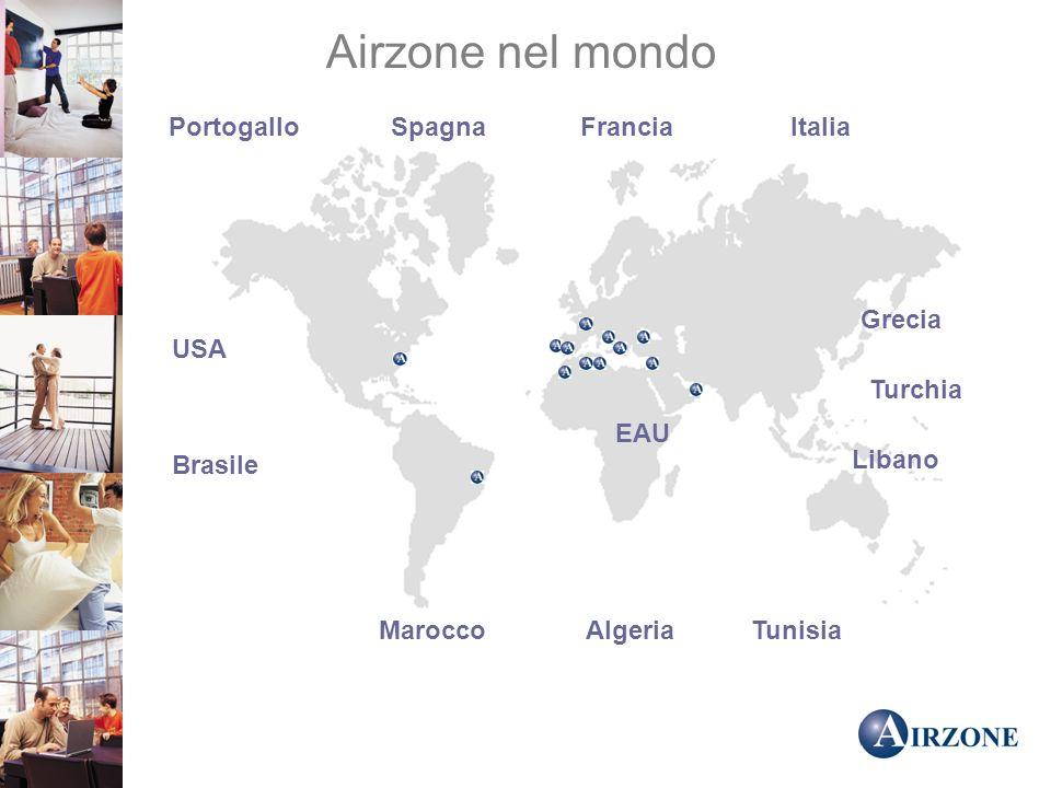 Airzone nel mondo Portogallo Spagna Francia Italia Grecia USA Turchia