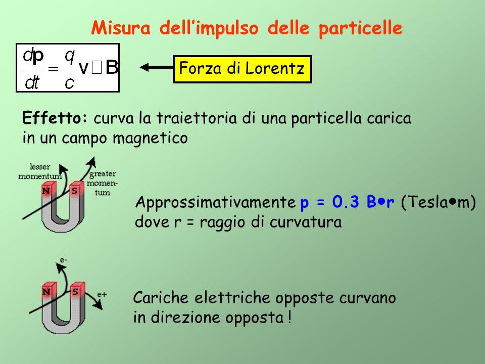 Misura dell'impulso delle particelle