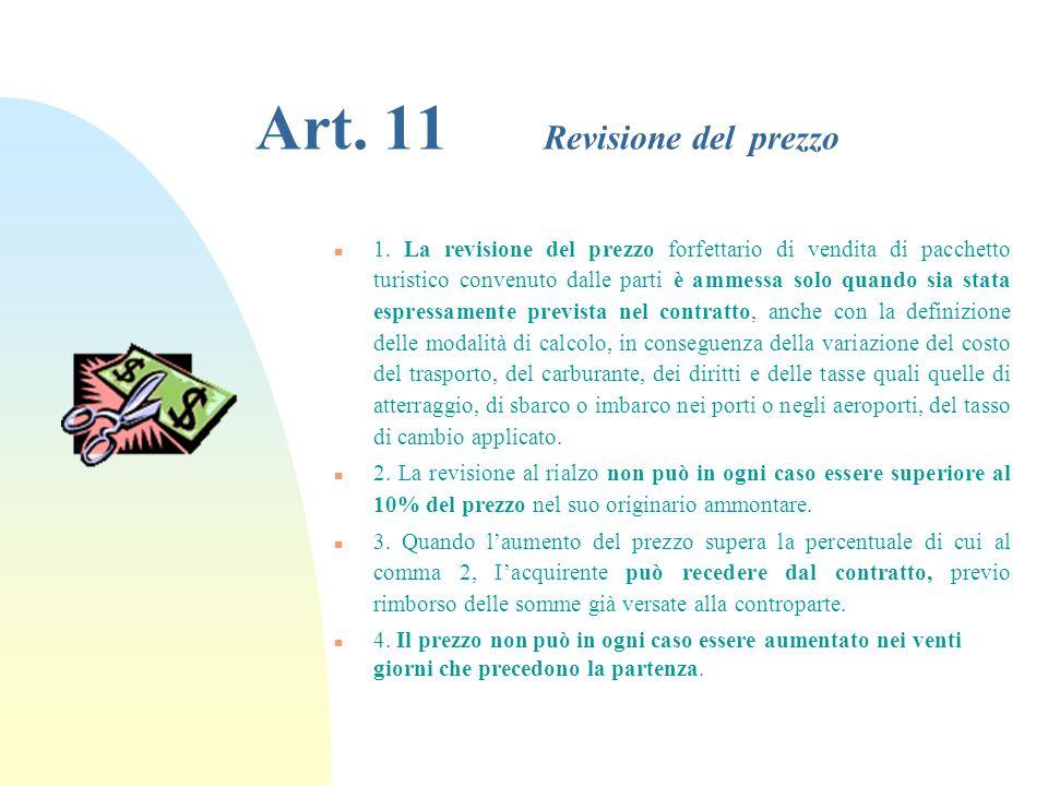 Art. 11 Revisione del prezzo