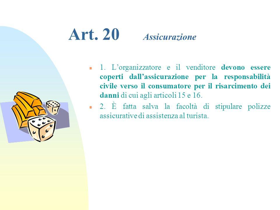 29/03/2017 Art. 20 Assicurazione.
