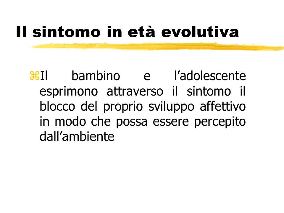 Il sintomo in età evolutiva