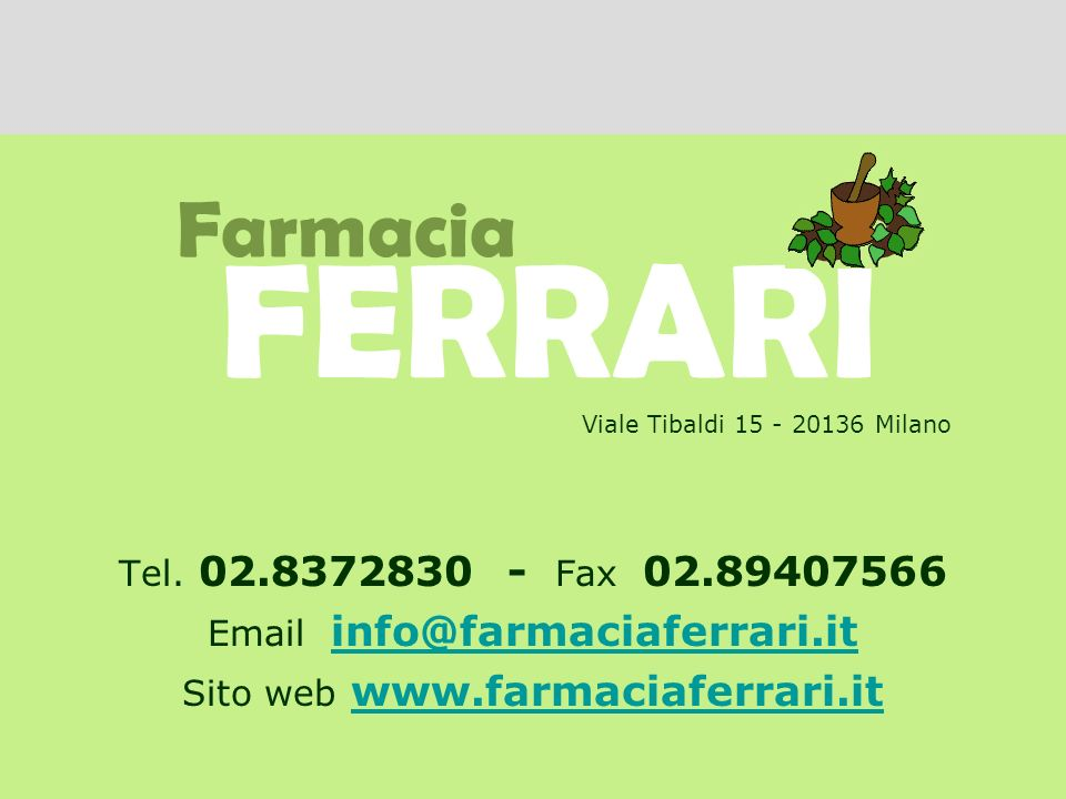 Email info@farmaciaferrari.it