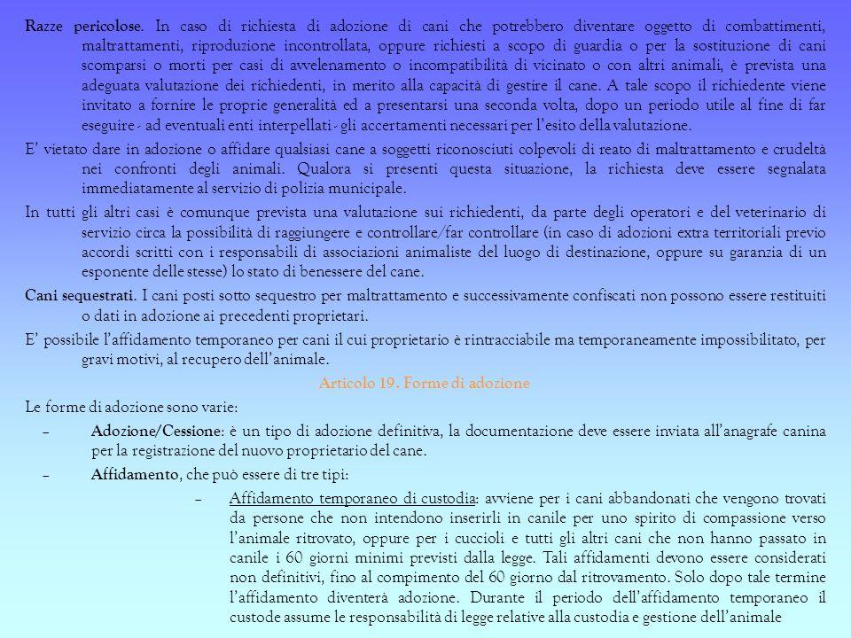 Articolo 19. Forme di adozione