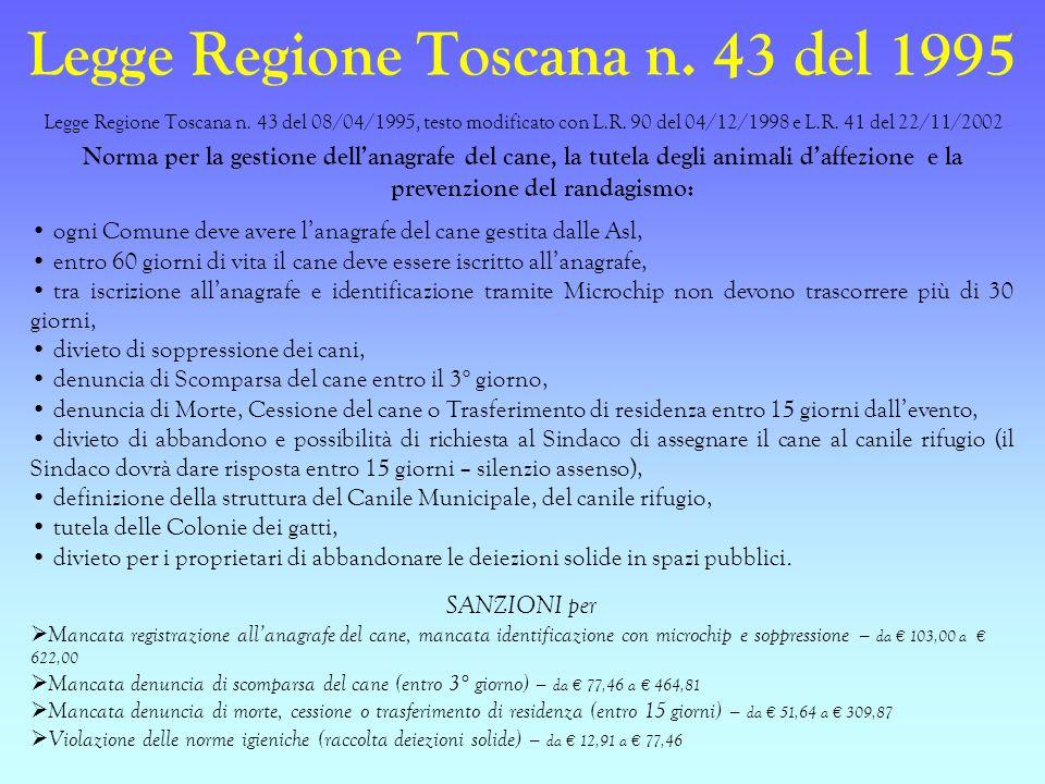 Legge Regione Toscana n. 43 del 1995