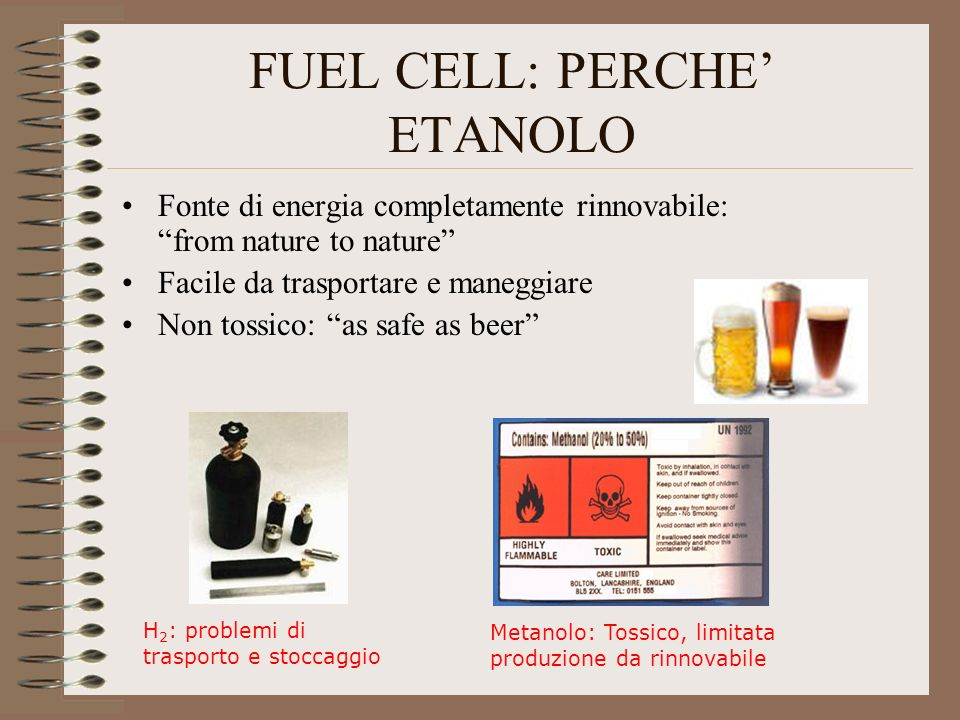 FUEL CELL: PERCHE' ETANOLO