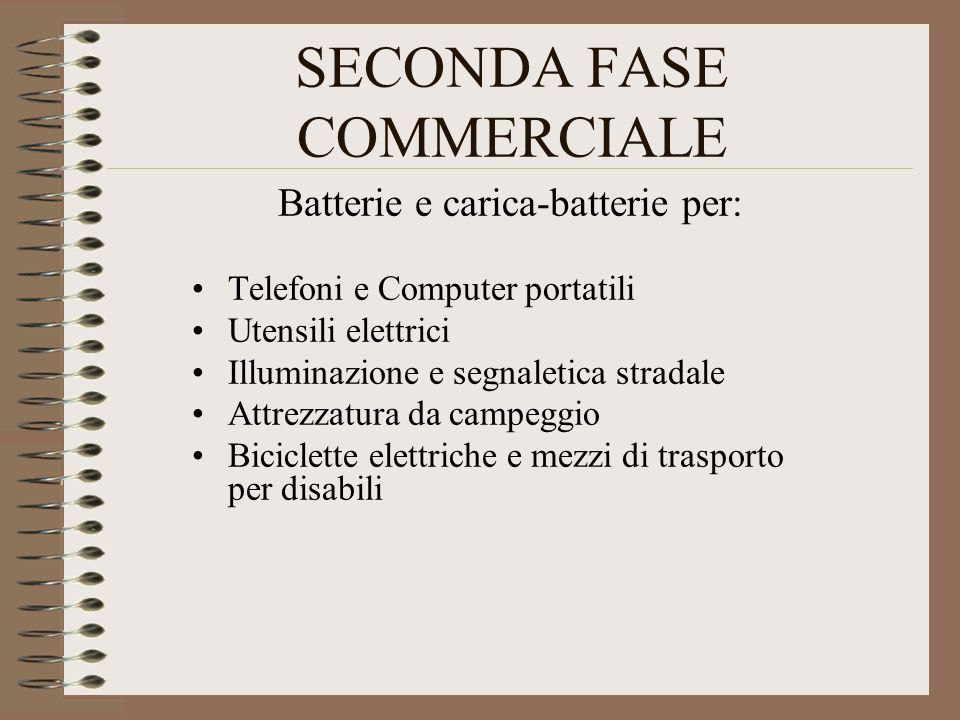 SECONDA FASE COMMERCIALE