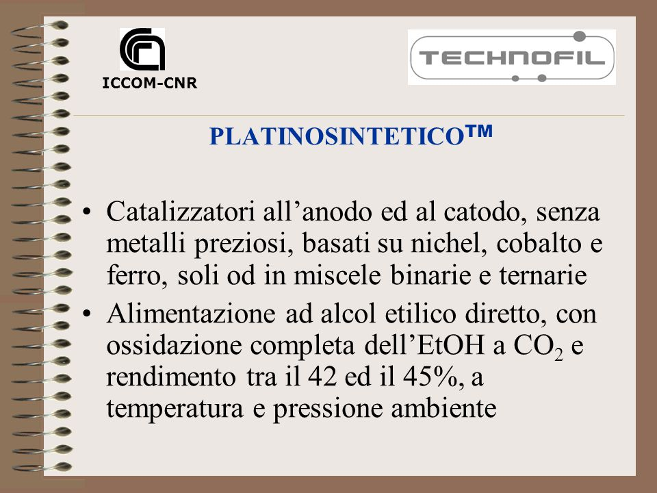 PLATINOSINTETICOTM ICCOM-CNR.