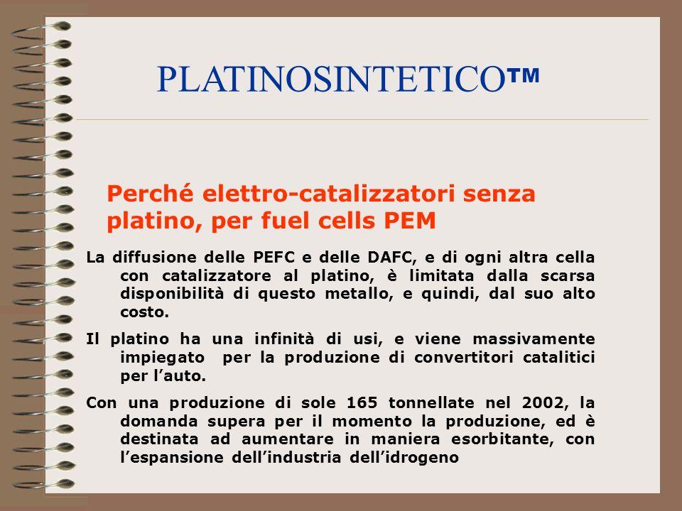 PLATINOSINTETICOTM Perché elettro-catalizzatori senza