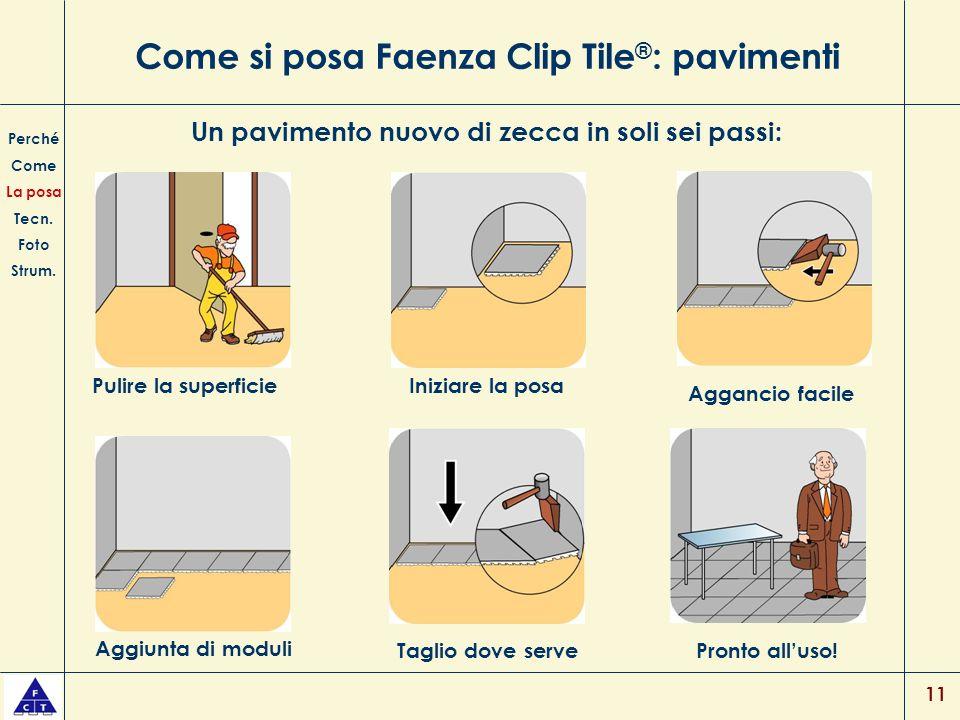 Come si posa Faenza Clip Tile®: pavimenti
