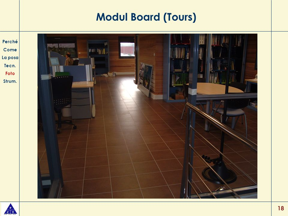 Modul Board (Tours) Perché Come La posa Tecn. Foto Strum.